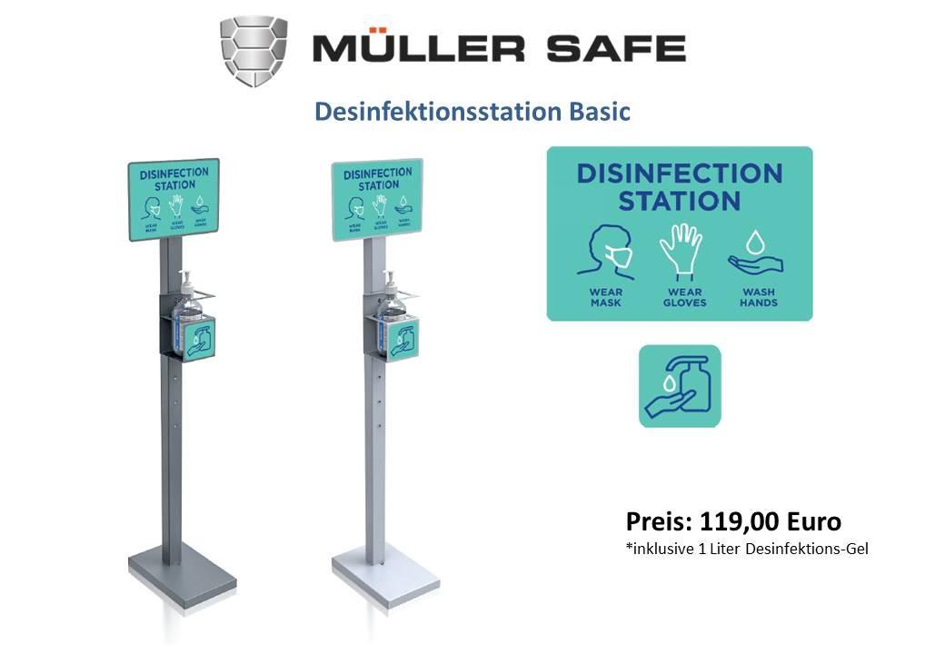 Desinfektionsständer Basic mit Ausstattung