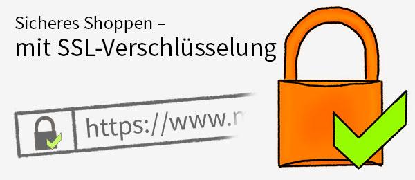MüllerSafe - sicher einkaufen dank SSL-Verschlüsselung